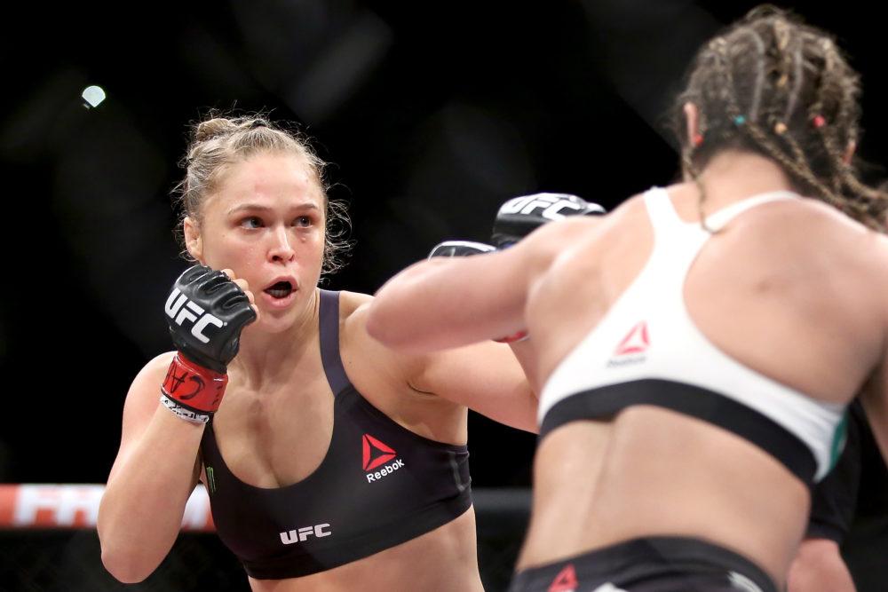 Ronda Rousey vs Bethe Correia in August 2015.