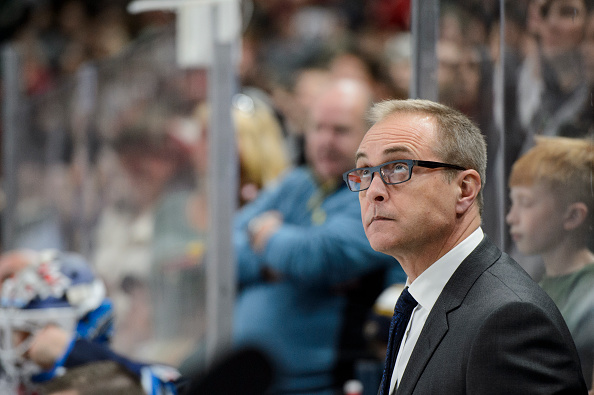 ST PAUL, MN - OCTOBER 15: Head coach Paul Maurice of the Winnipeg Jets looks on during the game against Minnesota Wild on October 15, 2016 at Xcel Energy Center in St Paul, Minnesota. (Photo by Hannah Foslien/Getty Images)