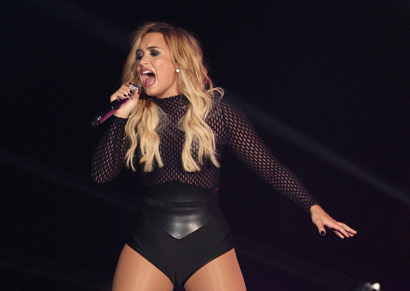 US singer Demi Lovato performs at Auditorio Citibanamex in Monterrey, Mexico, on October 19,  2016.  (Photo: JULIO CESAR AGUILAR/AFP/Getty Images)
