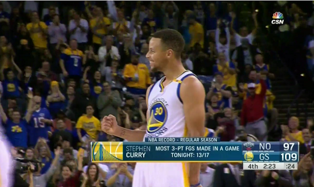 WATCH  Steph Curry sets NBA single-game record with 13 3-pointers e274af1b133d