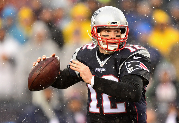 FOXBORO, MA - DECEMBER 24:  Tom Brady #12 of the New England Patriots throws during the first quarter of a game against the New York Jets at Gillette Stadium on December 24, 2016 in Foxboro, Massachusetts.  (Photo by Billie Weiss/Getty Images)
