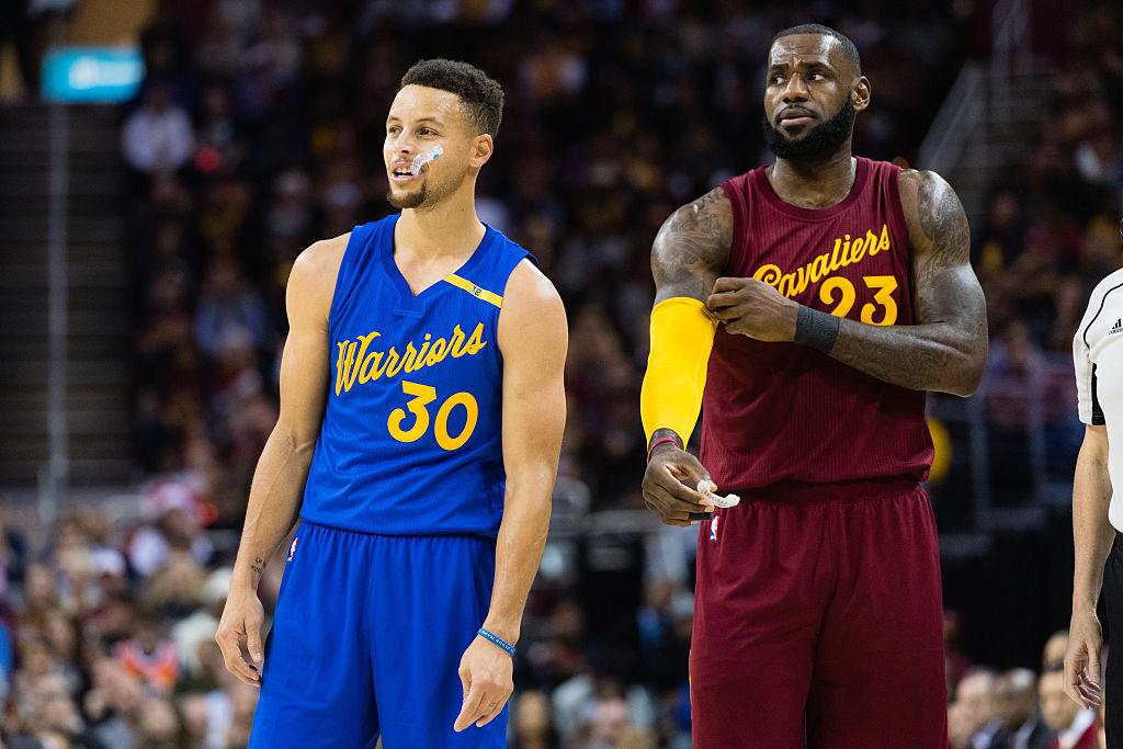 Warriors Cavs Steph Curry LeBron James