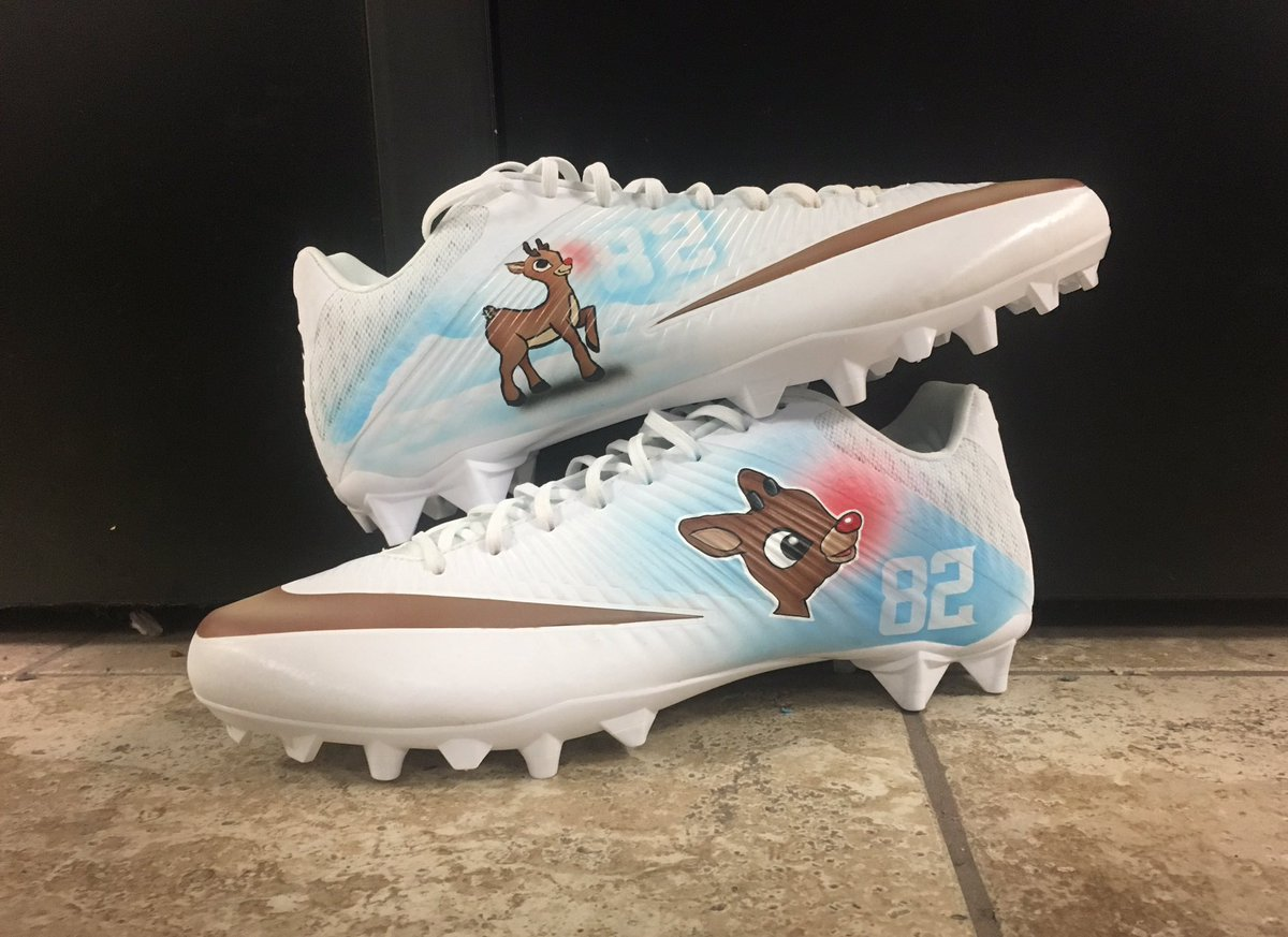 NFL players are going all-out with their Christmas cleats