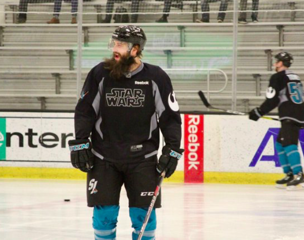 San Jose Sharks Don Star Wars Jerseys During Practice-2105