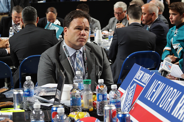 BUFFALO, NY - JUNE 25: Jeff Gorton of the New York Rangers attends the 2016 NHL Draft on June 25, 2016 in Buffalo, New York.  (Photo by Bruce Bennett/Getty Images)