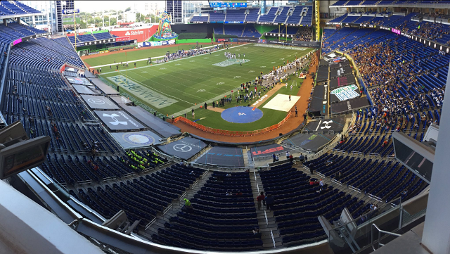 Dozens Of People Showed Up To Watch Tulsa And Central Michigan Play In The Miami Beach Bowl
