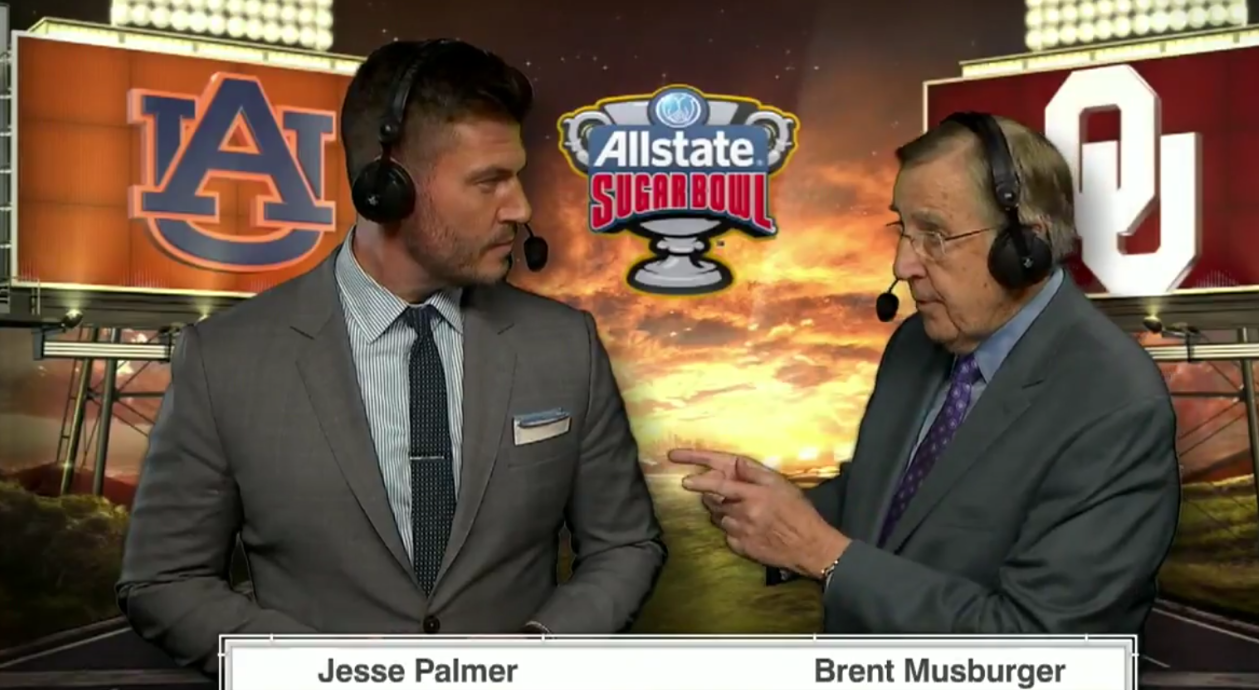 Jesse Palmer Brent Musburger Sugar Bowl