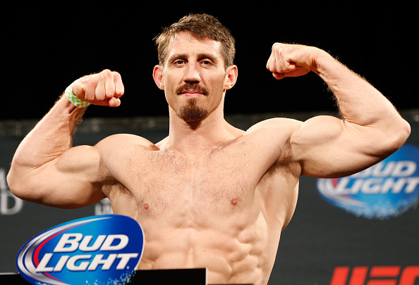 LAS VEGAS, NV - SEPTEMBER 26:  Tim Kennedy weighs in during the UFC 178 weigh-in at the MGM Grand Conference Center on September 26, 2014 in Las Vegas, Nevada. (Photo by Josh Hedges/Zuffa LLC/Zuffa LLC via Getty Images)