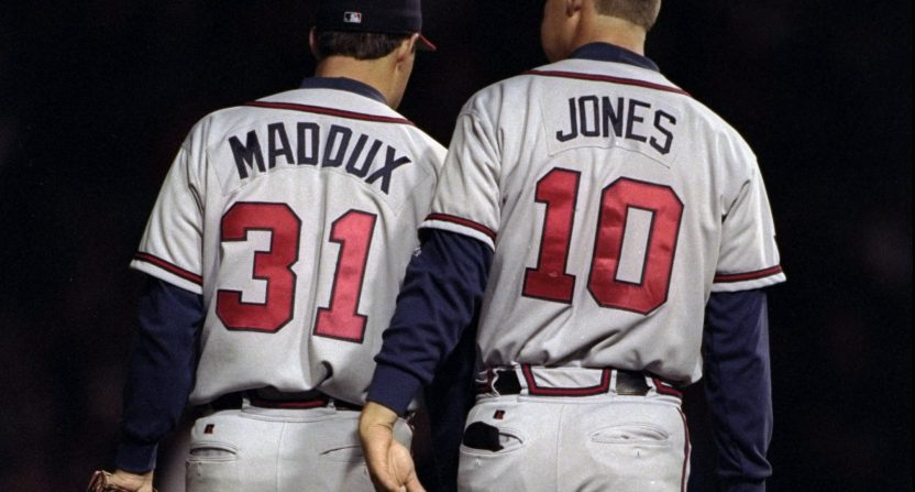 greg maddux, chipper jones, atlanta braves