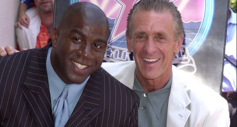 e252b6f4f Pat Riley offers his endorsement to Magic Johnson as Lakers GM