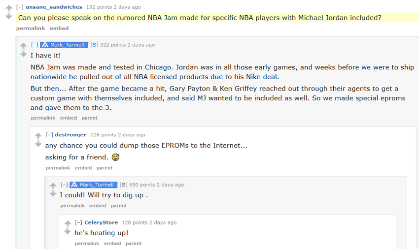 Mark Turmell on NBA Jam with Michael Jordan.