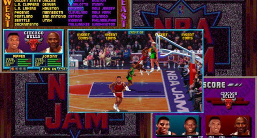 Michael Jordan in NBA Jam.