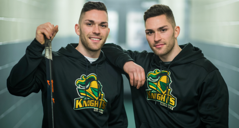 Spencer (L) and Scott McHaffie, the Surrey Knights' coaches, are trying to bounce back from a winless season.