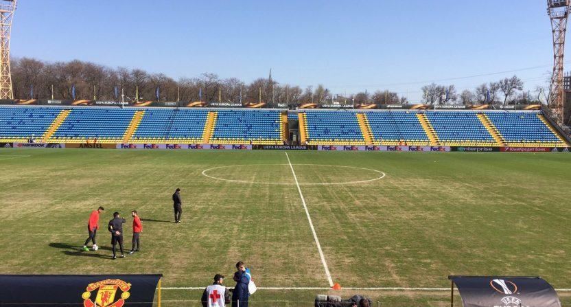 Manchester United Rostov pitch