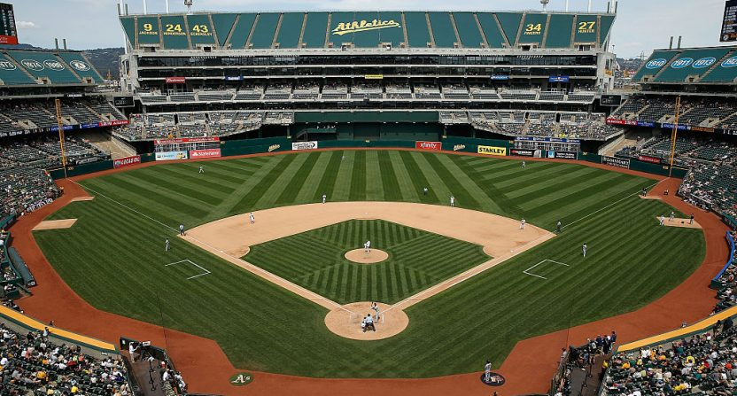 The Oakland-Alameda County Coliseum.