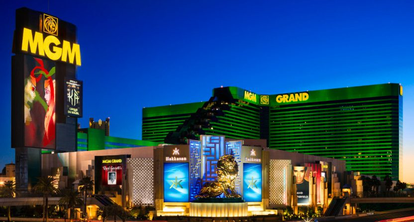 The MGM Grand Casino and Hotel in Las Vegas is hosting arm-wrestling championships with NFL players.