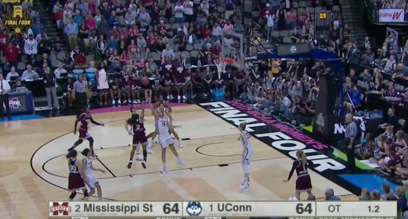 Morgan William buzzer beater UConn Mississippi State