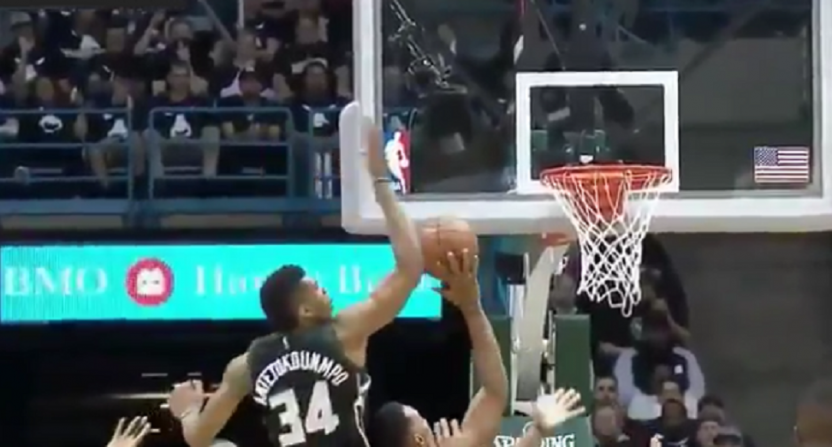 Bucks play Barney theme song during Raptors intros, then