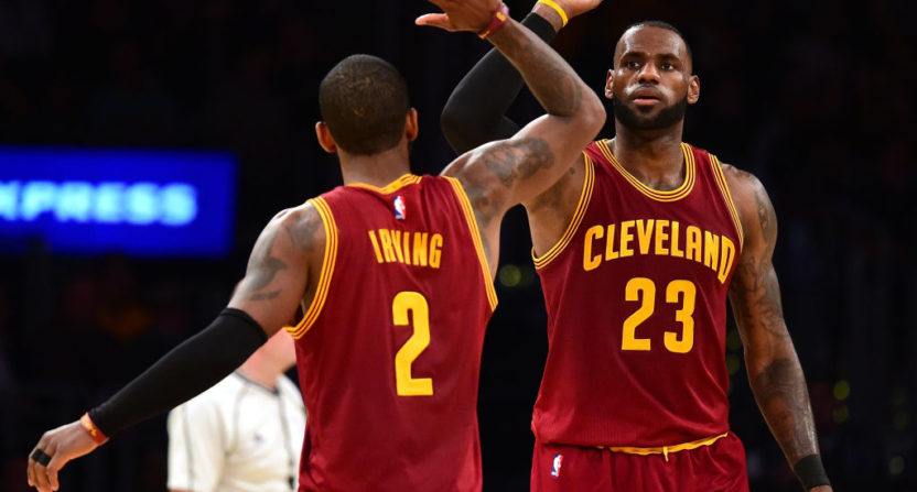 get cheap d3665 d0893 LeBron James and Kyrie Irving ate the Celtics' heart during ...