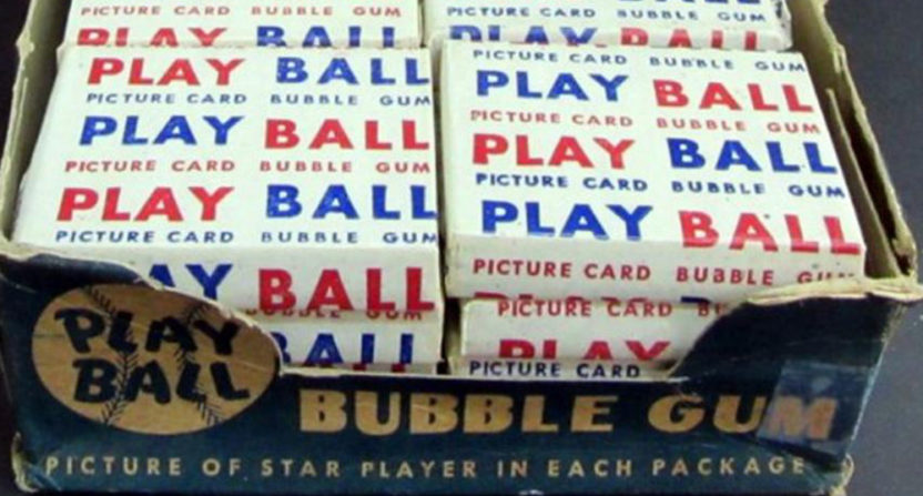"Packs of Bowman ""Play Ball"" cards from 1948."