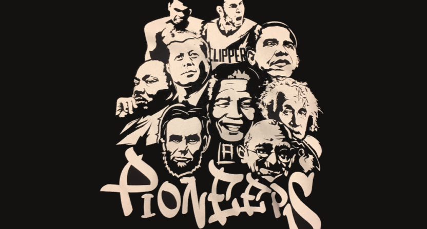 """The Clippers made this t-shirt comparing Blake Griffin to """"Pioneers."""""""