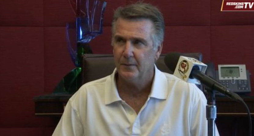 "Washington Redskins' president Bruce Allen kept calling his star QB ""Kurt"" Cousins."