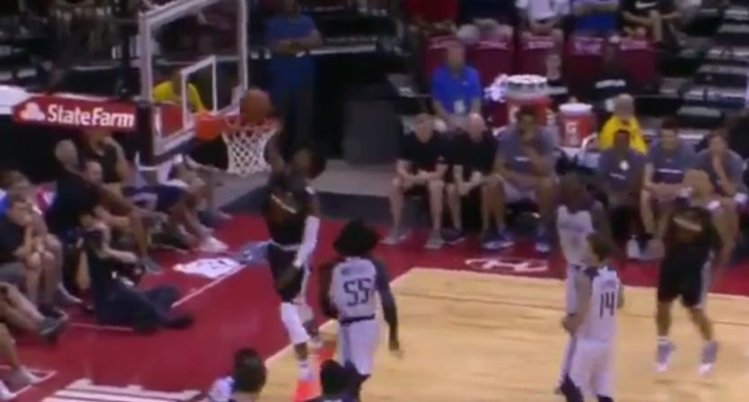 Josh Jackson gets rejected by the rim in a Summer League game.
