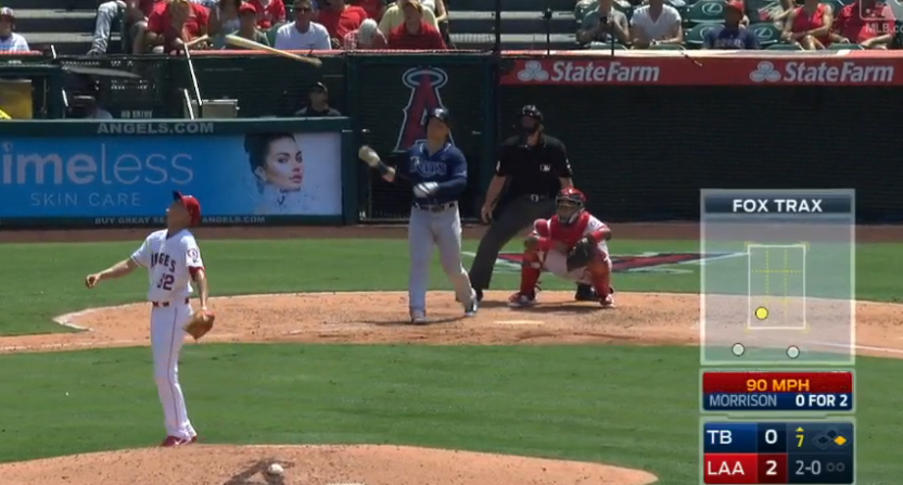 Logan Morrison celebrated this home run with a giant bat flip.