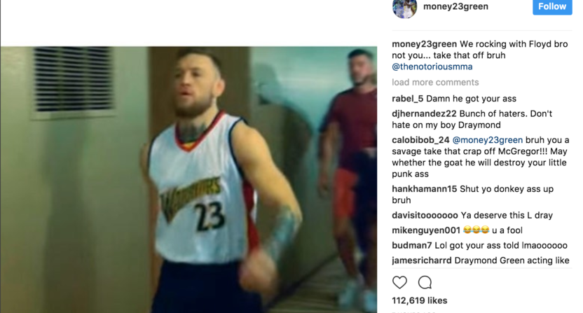 the best attitude 58b31 6381f Naturally, Draymond Green and Conor McGregor are brutally ...