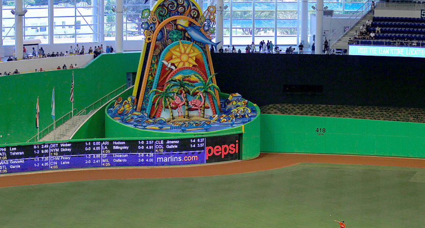 Marlins home run sculpture
