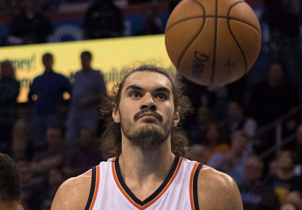 thunder center steven adams is unrecognizable without his