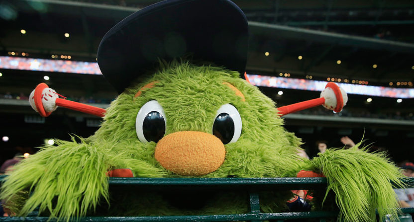Astros Mascot >> Chris Archer Goes After Orbit With Water Balloon Ambush