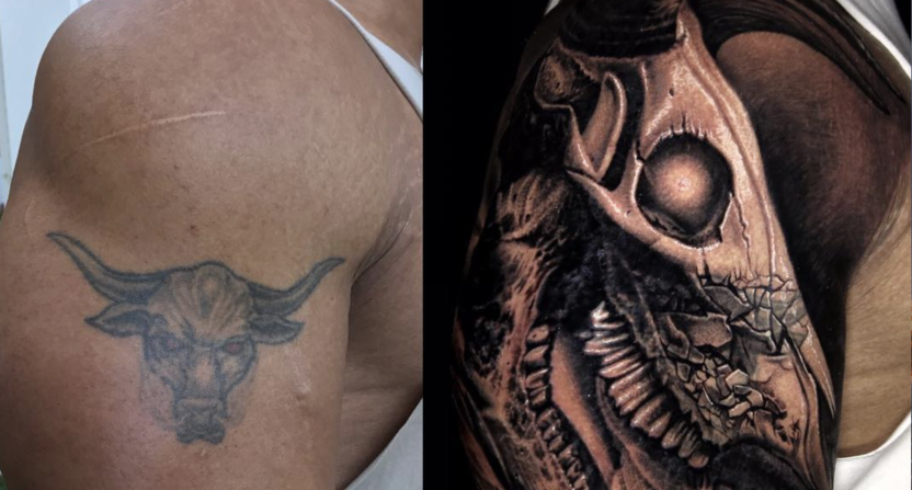 The Rock Shows Off His New And Improved Brahma Bull Tattoo