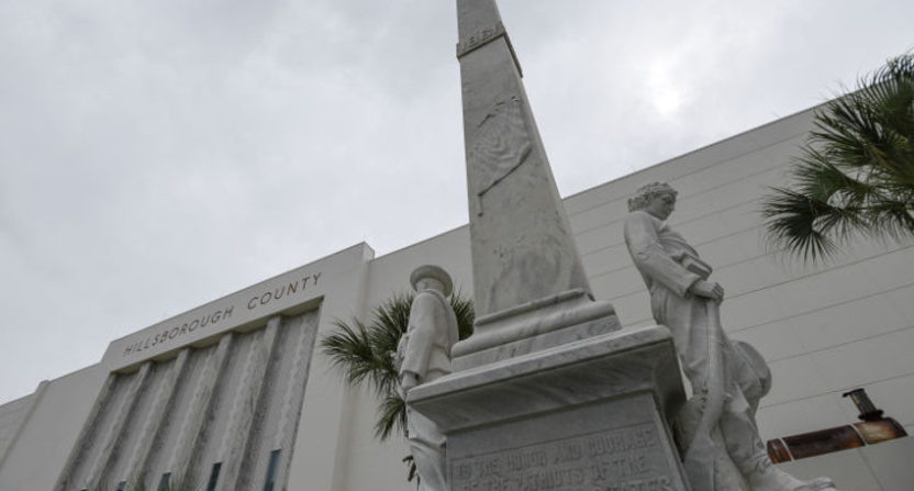 Tony Dungy and several Tampa sports teams contributed towards the removal of this Confederate statue.