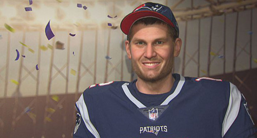Tom Brady's wax figurine.
