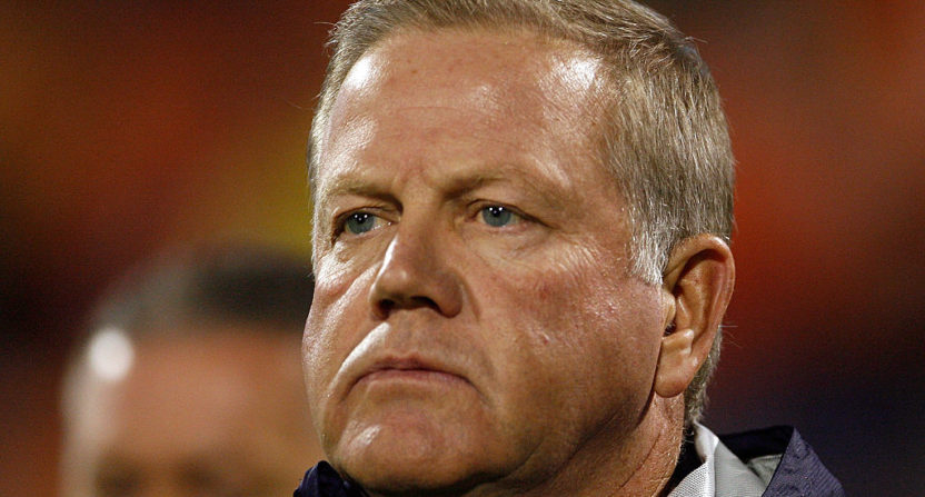Former Notre Dame player sues school, Brian Kelly