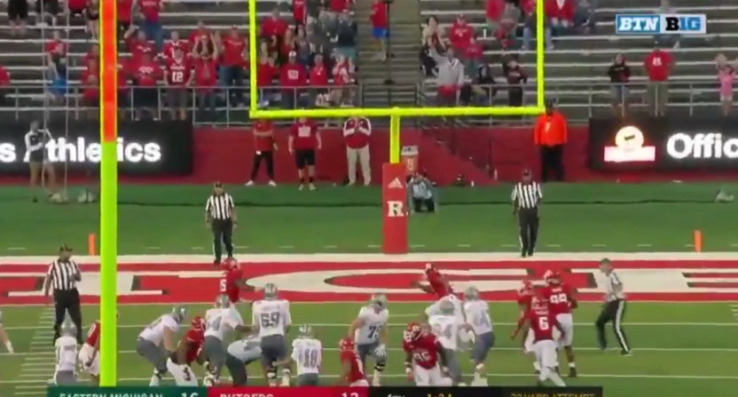 Eastern Michigan got their first-ever win against Big Ten competition against Rutgers Saturday.