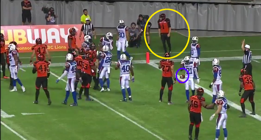 CFL punter Ty Long could have recovered this for a touchdown, but didn't because he didn't know the rule.
