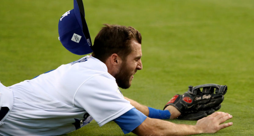 Game 2 of the World Series saw a lot of weird things, like Chris Taylor's hat saving a run.
