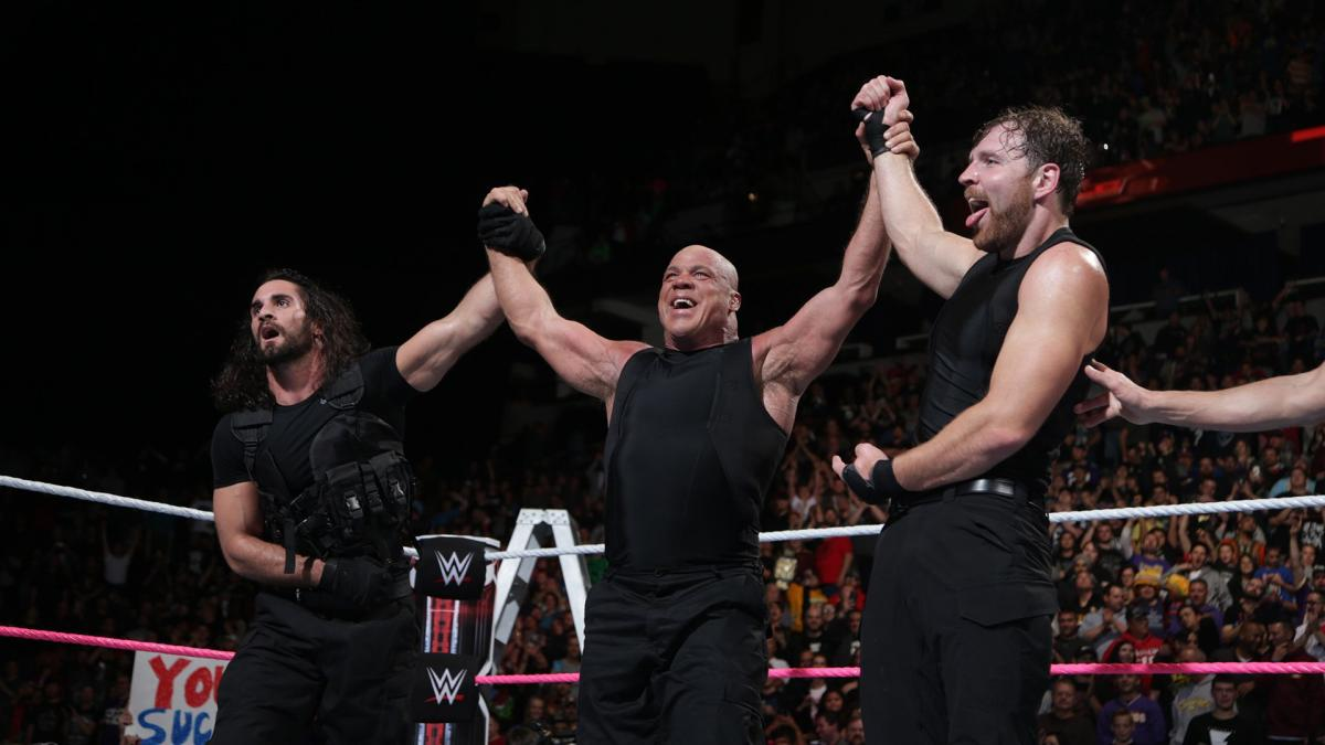 Wwe Tlc Review Angle Teams With Rollins And Ambrose To