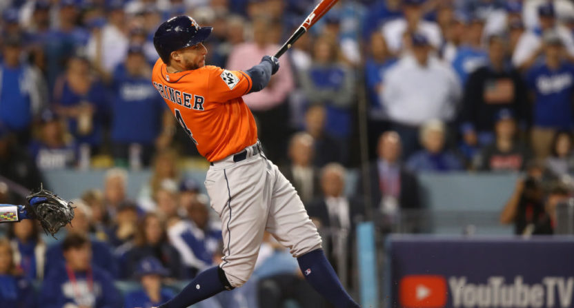 George Springer's two-run HR broke records.