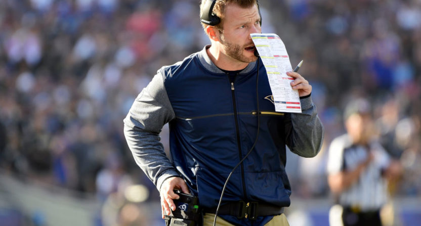 Sean McVay has been calling audibles from the sideline.