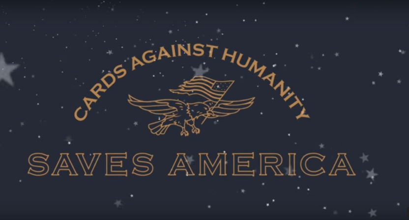 The Cards Against Humanity Saves America campaign includes buying border land to stop the wall..