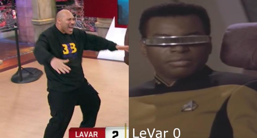 LaVar Ball (L) is not LeVar Burton (R).