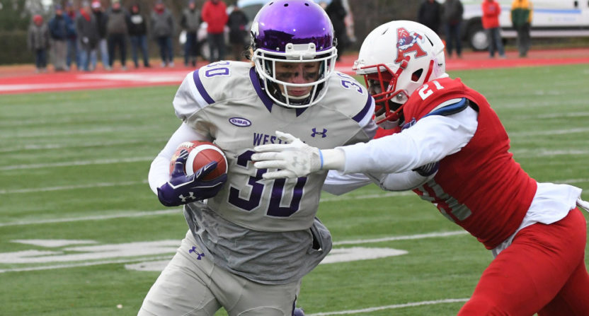The Western Mustangs beat the Acadia Axemen 81-3 in the Uteck Bowl Saturday, one of Canadian university football's national semifinals.