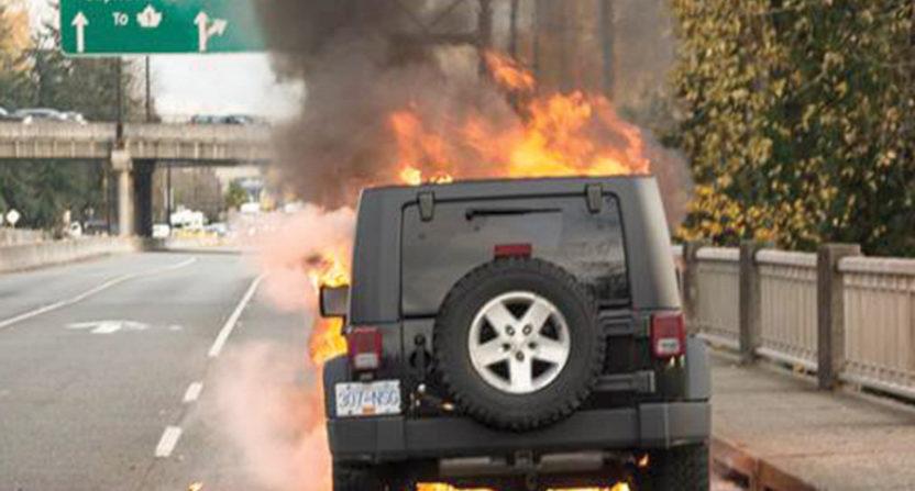 Olympian ice dancer Victor Kraatz saw his car catch on fire recently.