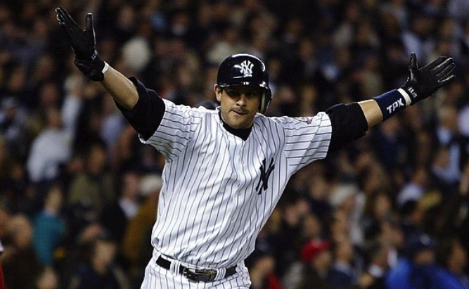Aaron Boone with the Yankees.