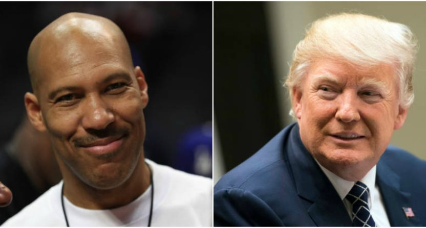 lavar ball-donald trump