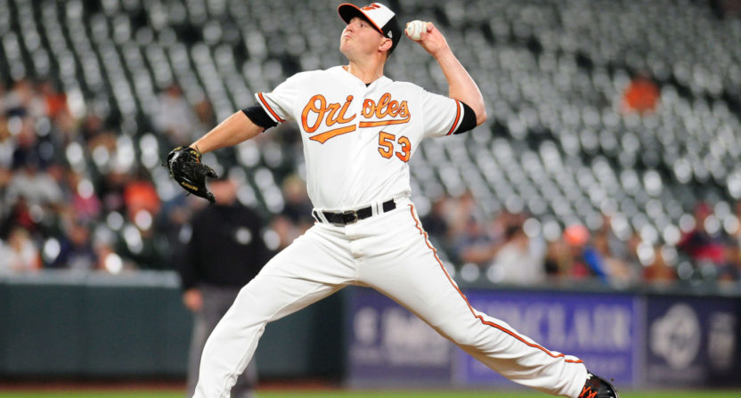 Zach Britton with the Orioles in September 2017.
