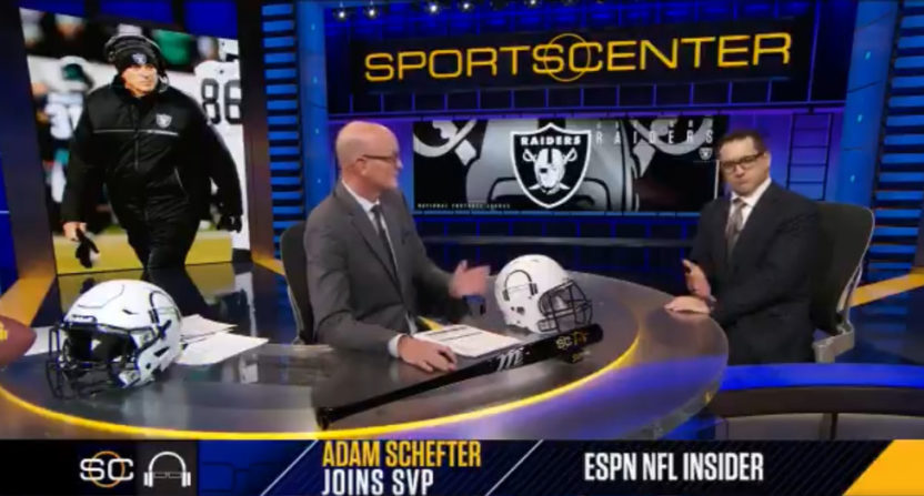 Adam Schefter joins Scott Van Pelt to talk about Jon Gruden to the Raiders.